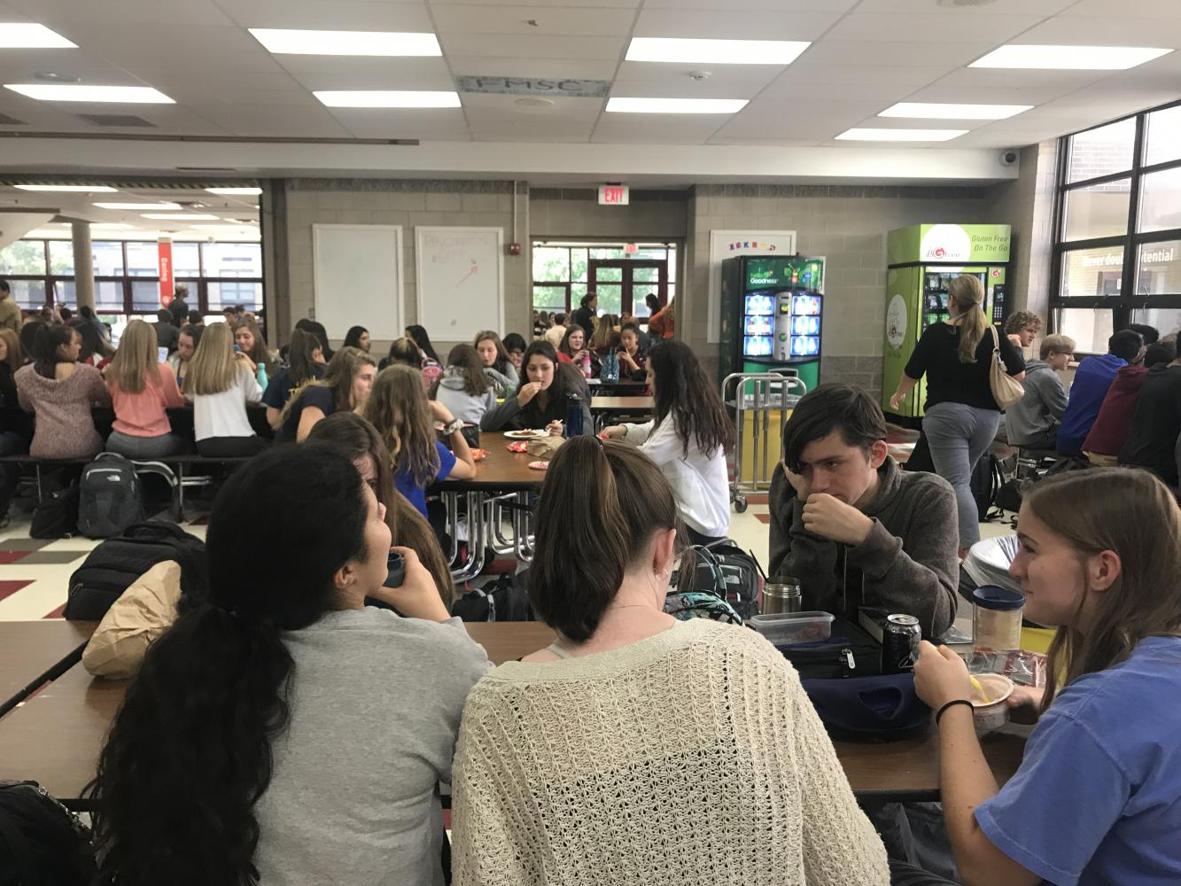 Many lunch periods are jam-packed with students, but an open campus could help solve that problem.