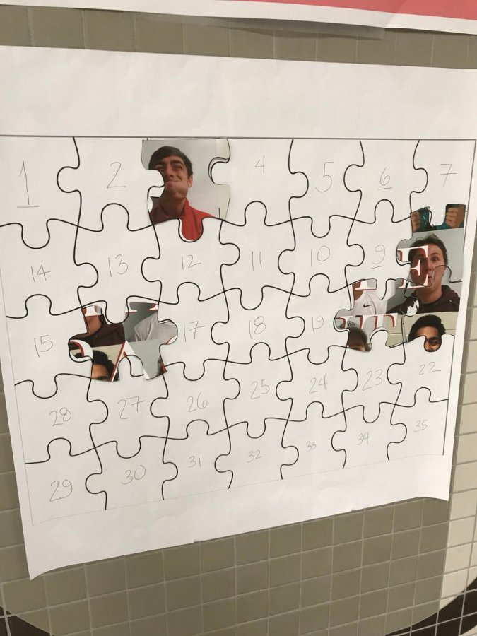 Student+Council+created+a+Mr.+Hinsdale+puzzle%2C+in+which+students+attempted+to+create+a+poster+by+finding+pieces+throughout+the+school.