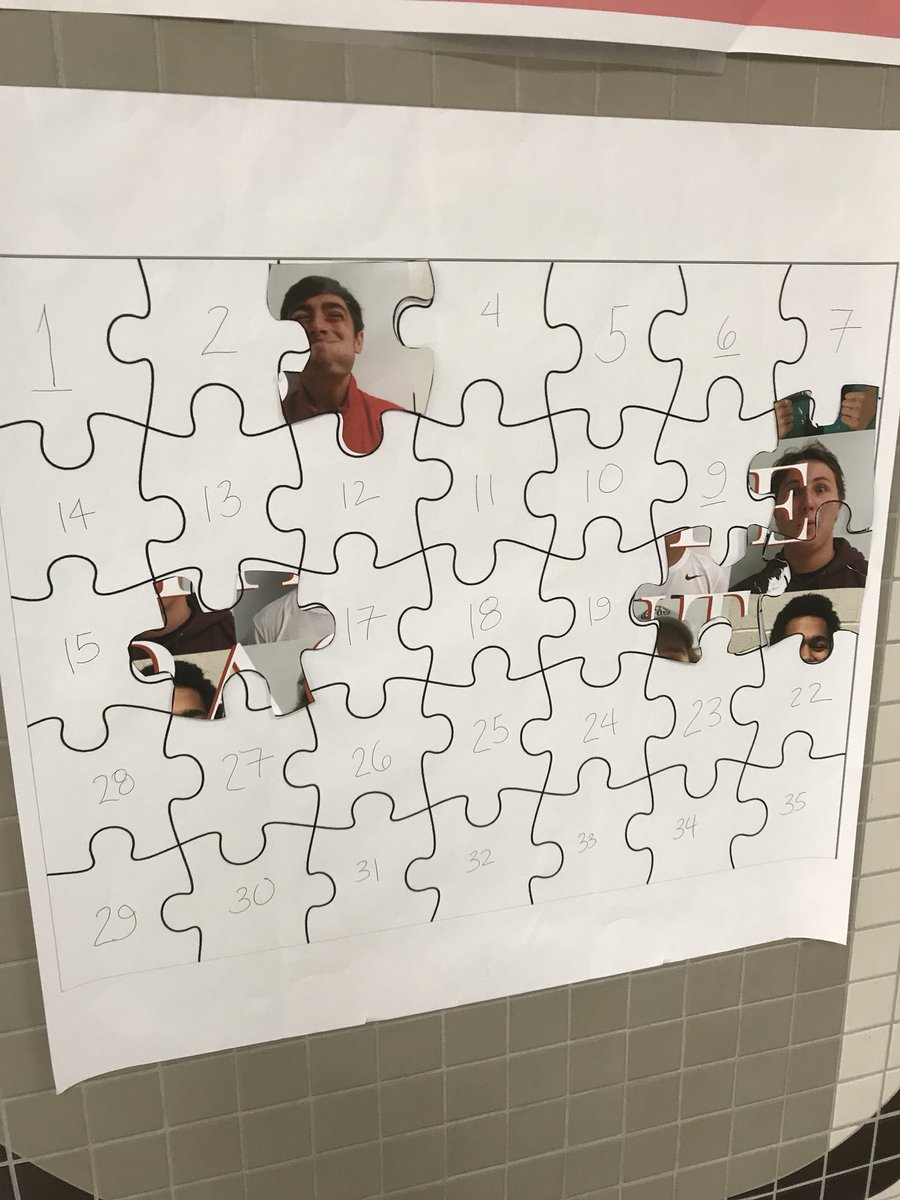Student Council created a Mr. Hinsdale puzzle, in which students attempted to create a poster by finding pieces throughout the school.