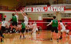 Boys volleyball team defeats rival Hinsdale South