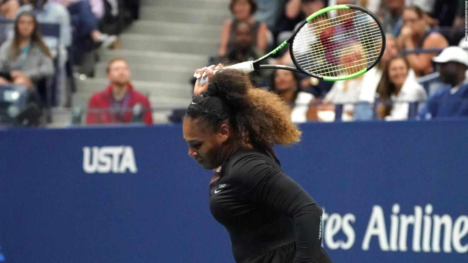 Williams broke her racket out of frustration when she was issued penalties during the U.S. Open final match.