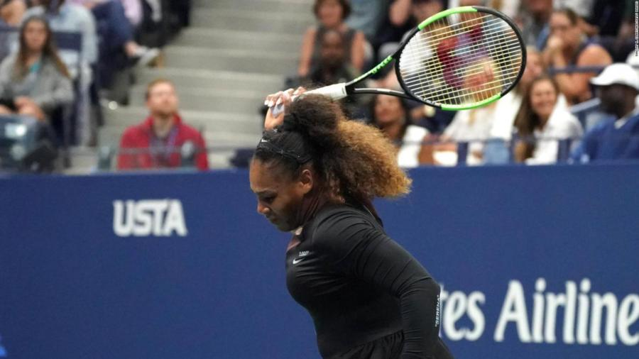 Serena Williams makes a racket at US Open