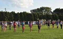 Band prepares for first home game