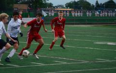 Varsity and JV soccer win on senior night