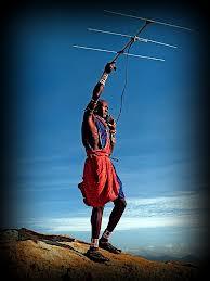 Masaï au téléphone mobil