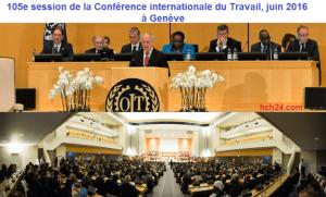 105e session de la Conférence internationale du Travail - juin 2016 - à Genève