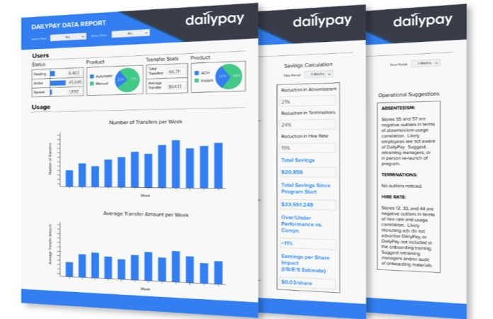 DailyPay Screens
