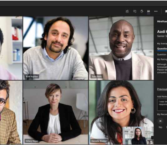 HireVue Microsoft Teams