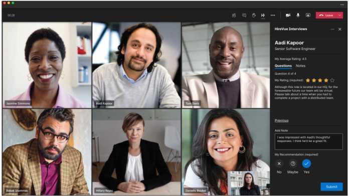 HireVue Microsoft Teams