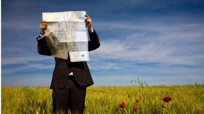 Businessman Map