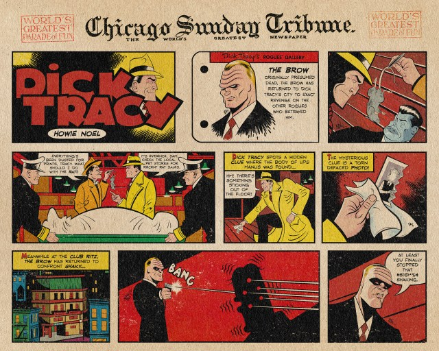 Dick Tracy Sunday Comic Strip by Howie Noel