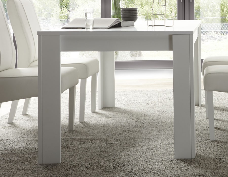 table extensible blanc laque design flavia