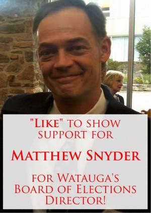 The Watauga County Republican Party posted this image on their Facebook page yesterday with these words: Like this post to send a message to Matt Snyder that we support his appointment to the Watauga County Board of Elections!