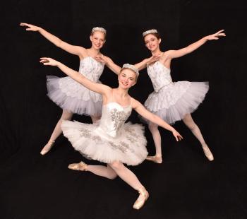 """""""Hansel and Gretel"""" guardian angels Isabella Cutillo, Carolina Norman and Savannah Troyer."""
