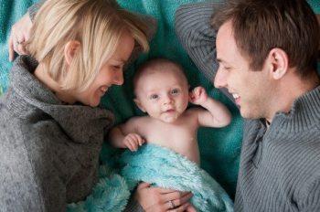 A family portrait by Burton Photography.
