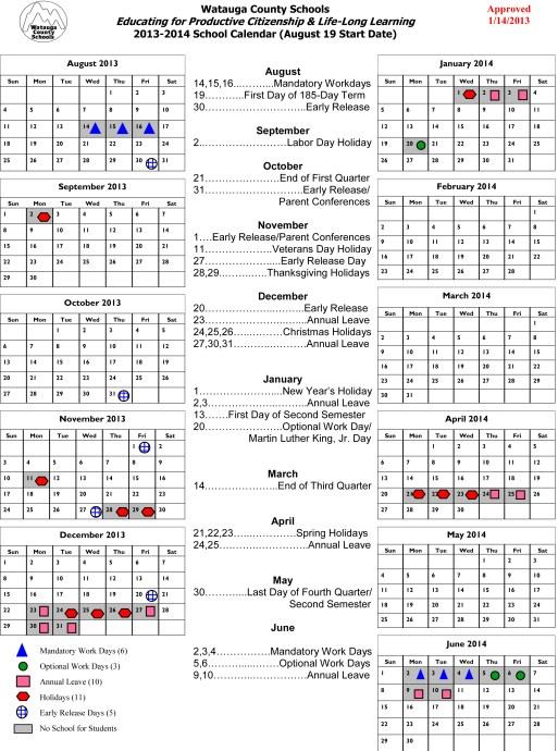2013-2014 calendar aug 19