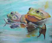 Oils and pastels by Kat Turczyn Courtesy of Toe River Arts Council