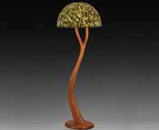 Sculpted wood lamp by Larry Brown Courtesy of Toe River Arts Council