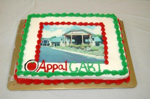 A cake celebrating the new facility. Photo by Jesse Wood