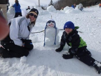 2015 Winner of Smallest Snowman – the McNay Family.