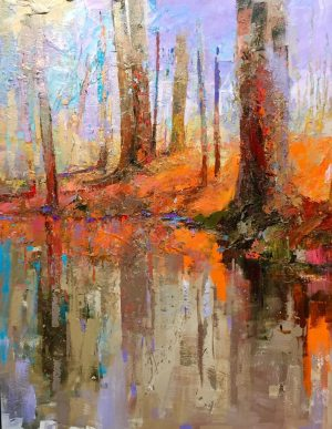 Andrew Braitman - Winter at the Water's Edge - 60 x 48 - Oil on Canvas