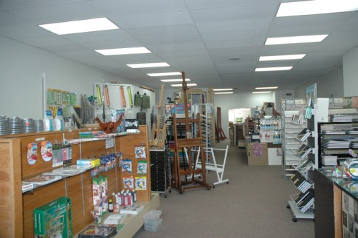 Interior of Art Mart. Photo by Madison V. Fisler