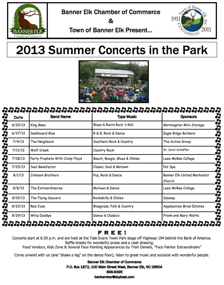 Banner Elk Summer Concerts