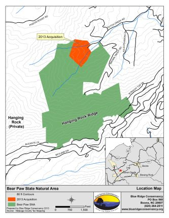 Bear Paw State Natural Area Map