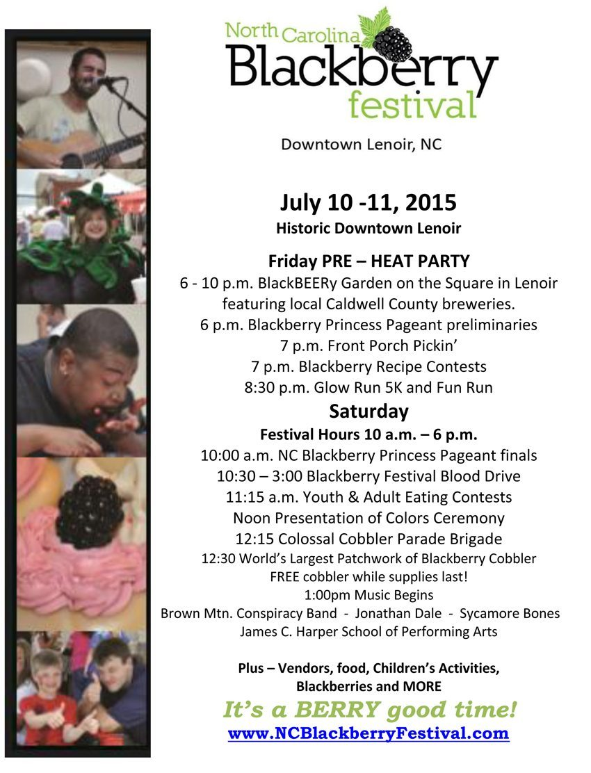 Blackberry Festival Flyer 2015