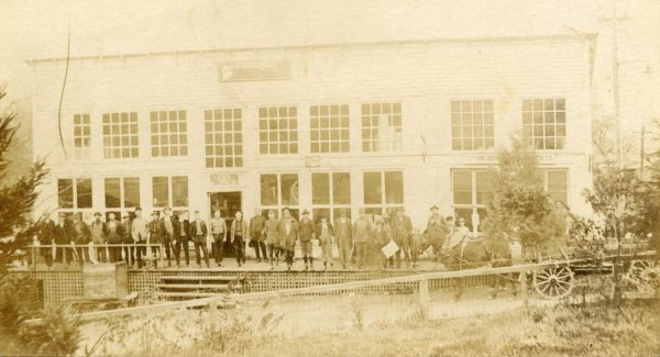 3) Boone Lumber Company Commissary with workers, ca. 1916, Lowery-Whiting Collection, Digital Watauga Project;