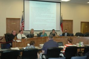 The town manager and the Boone Town Council discuss the upcoming budget on Friday. Photo by Jesse Wood