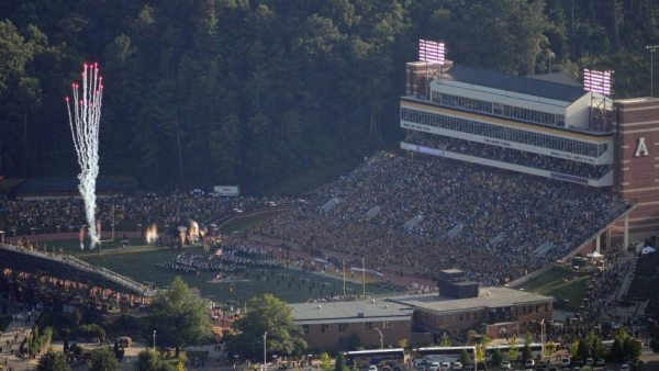 Appalachian State football will host Gardner-Webb (2018) and East Tennessee State (2019 and 2024) in upcoming seasons at Kidd Brewer Stadium. Photo courtesy Dave Mayo / App State Athletics