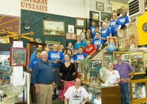 A previous Cash Mob that took place at Appalachian Antiques. Photo by Lonnie Webster