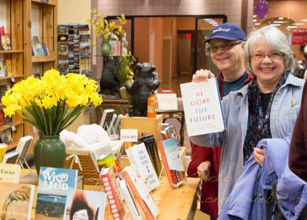 Cash Mob at the Black Bear Book Store and Tucker's Restaurant. Photo by Lonnie Webster