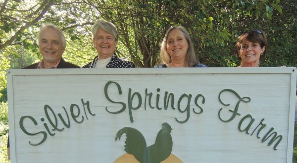 Pictured left to right are Peter Paglen (Better Days and Nights), Bev Payne (Silver Springs Farm), Stephanie Paglen (Better Days and Nights) and JoAnn McMurray (Chamber).