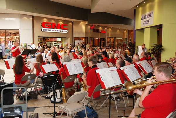 The Watauga Community Band provided the entertainment on Memorial Day.