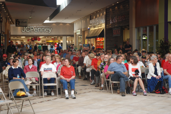 At least 250 people attended the Memorial Day programming at the Boone Mall.