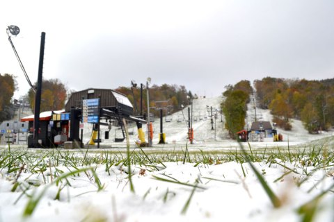 This was App Ski Mountain in late October. App Ski Mountain looks to begin snowmaking on Tuesday. Photo by Drew Stanley