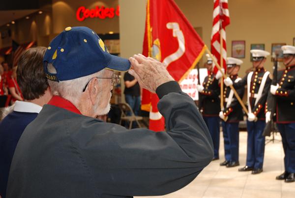 A veteran salutes