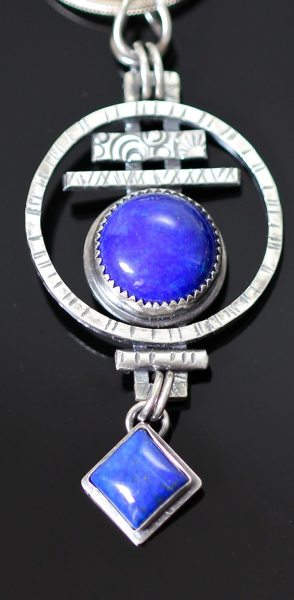 Debbie Higdon - Circle Pendant with Lapis