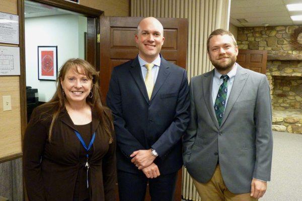 Deborah Smith, Dr. Scott Elliott and Garrett Price