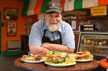 Banner Elk TDA/TDA Chairman Mike Dunn is pictured in Dunn's Deli. Photo by Todd Bush.