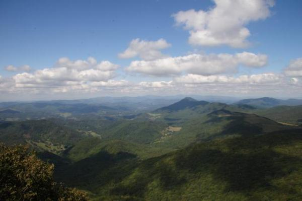 View from summit of Elk Knob State Park – Photo by Jay Wild, N.C. Division of Parks and Recreation