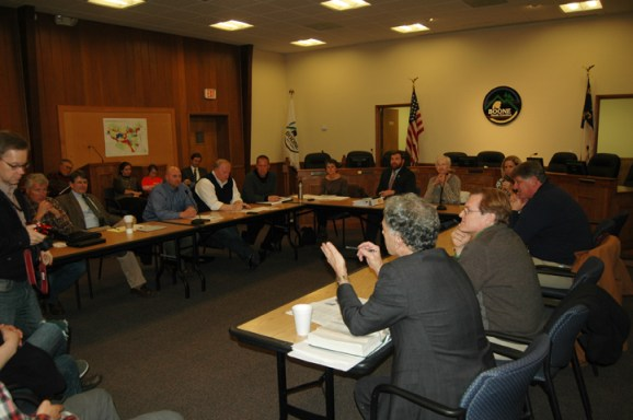 The Watauga County Board of Commissioners and the Boone Town Council meet to discuss ETJ appointments.
