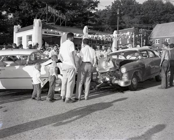 6) Crowds Mingle Around the Emma Isaac Wreck, Greasy Corner Vicinity, September 1956, Palmer Blair Collection, Digital Watauga Project;