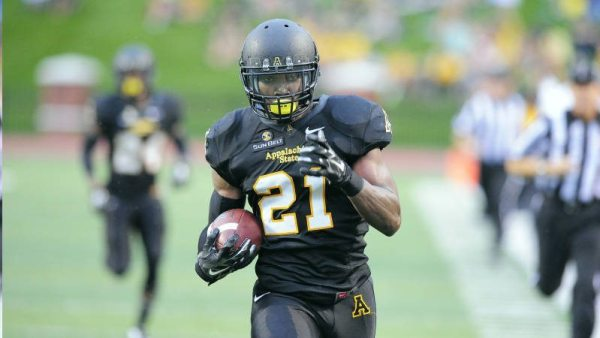 Appalachian State senior safety Doug Middleton is one of 42 players on the official watch list for the 2015 Jim Thorpe Award, which is presented annually to college football's best defensive back. Photo courtesy App State Sports / Keith Cline