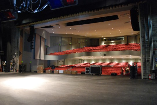 View of the seating area from the stage. Photo by Ken Ketchie