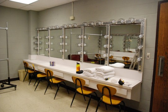 Even the dressing rooms got a bit of sprucing up. Photo by Ken Ketchie