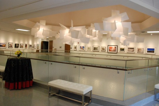 The second floor of the Schaefer Center is dedicated as gallery space. Photo by Ken Ketchie