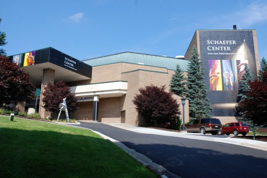 The Schaefer Center for the Performing Arts is as beautiful outside as it is inside. Photo by Ken Ketchie